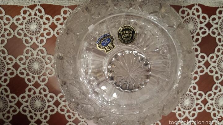 Antigüedades: Espectacular Bombonera cristal de Bohemia TALLADO Y SOPLADO 500PK 24% PbO - Foto 5 - 56860406