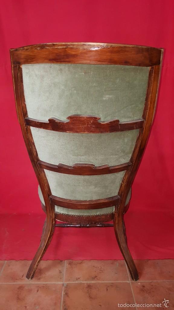Antigüedades: Original silla alta años 30 con dos orejas para restaurar. - Foto 4 - 56871054