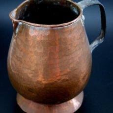 Antigüedades: JARRA DE COBRE MARTILLADO CON ASA DE HIERRO - S. XIX. Lote 56875750