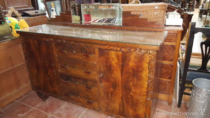 Aparador art dec en madera de raiz en buen est comprar aparadores antiguos en todocoleccion - Aparador art deco ...