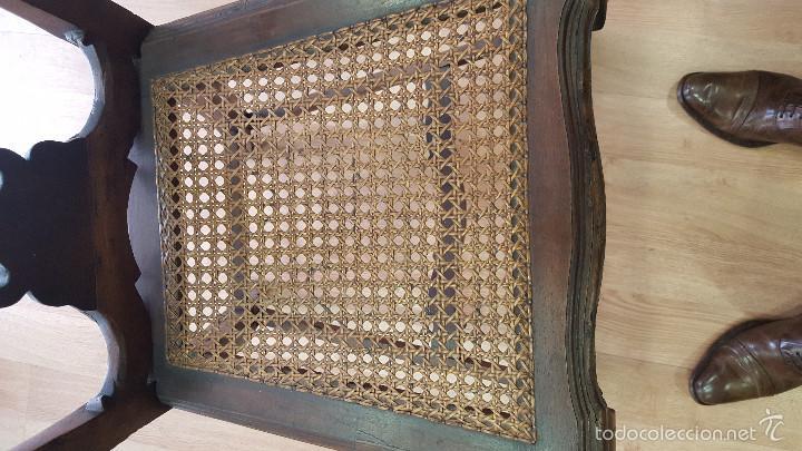 Antigüedades: SILLA SIGLO XVIII CHIPPENDALE - Foto 3 - 56886296