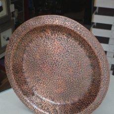 Antigüedades: PLATO GRANDE DE COBRE REPUJADO. Lote 56888575