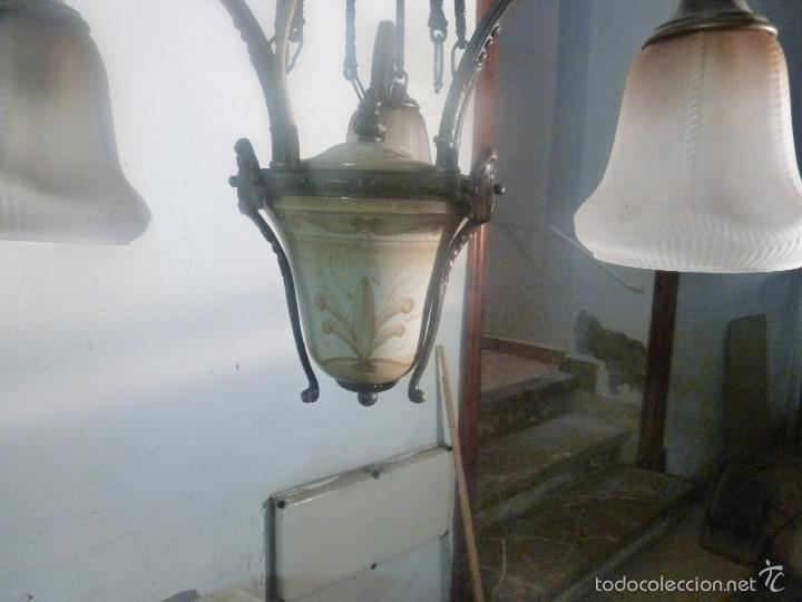 Antigüedades: lampara de bronce y tulipas - Foto 10 - 56891879