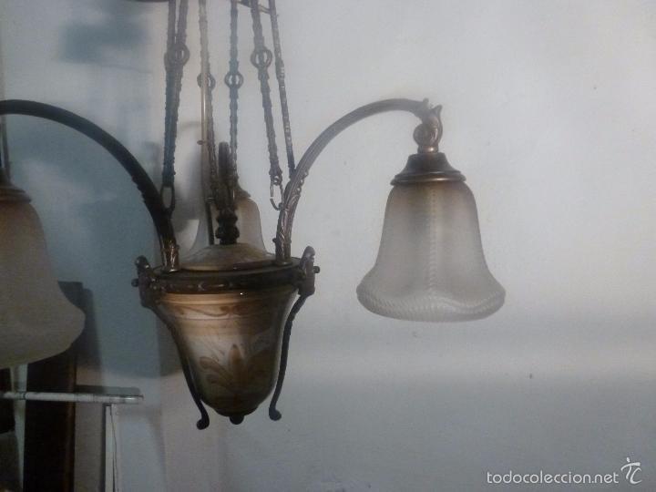 Antigüedades: lampara de bronce y tulipas - Foto 13 - 56891879