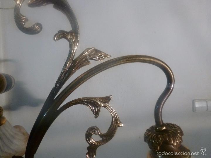 Antigüedades: lampara de bronce y tulipas - Foto 8 - 56891985