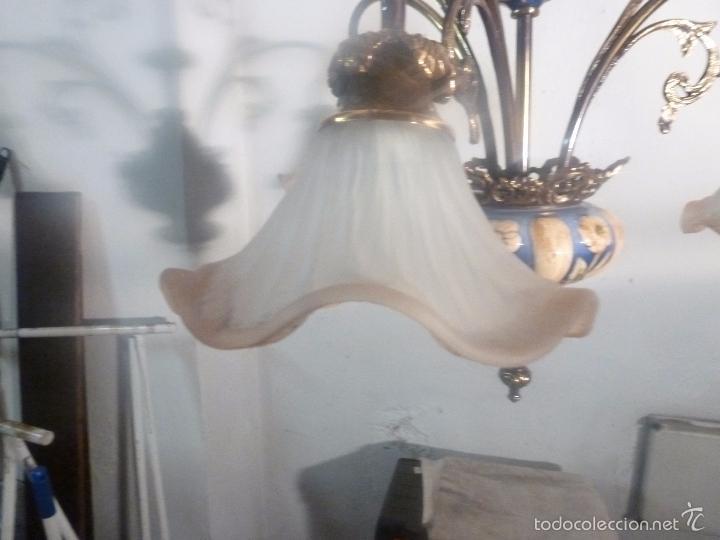 Antigüedades: lampara de bronce y tulipas - Foto 11 - 56891985