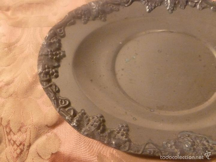 Antigüedades: bandeja de metal ingles - Foto 5 - 56892946