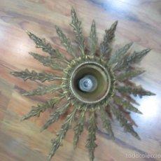 Antigüedades: LÁMPARA DE TECHO EN BRONCE. UN PUNTO DE LUZ. 45 CMS. DIÁMETRO X 15 CMS. ALTURA.. Lote 56893356
