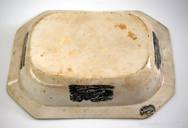 Antigüedades: CARTAGENA - ENSALADERA OCHAVADA DE LA SERIE CINEGETICA - S. XIX - Foto 3 - 56894354