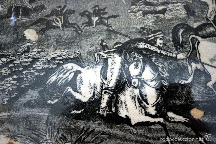 Antigüedades: CARTAGENA - ENSALADERA OCHAVADA DE LA SERIE CINEGETICA - S. XIX - Foto 4 - 56894354