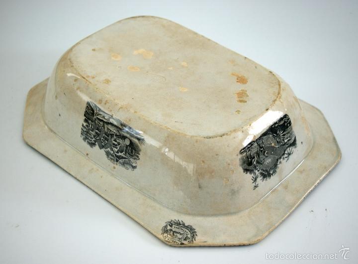 Antigüedades: CARTAGENA - ENSALADERA OCHAVADA DE LA SERIE CINEGETICA - S. XIX - Foto 7 - 56894354