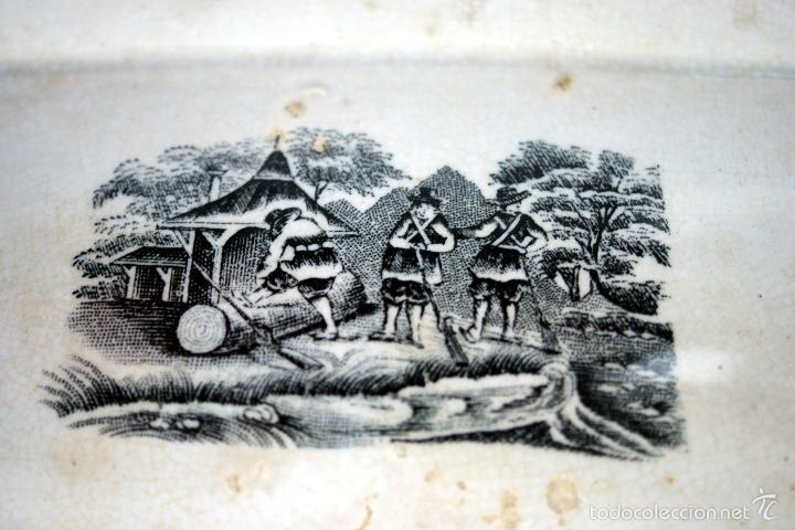 Antigüedades: CARTAGENA - ENSALADERA OCHAVADA DE LA SERIE CINEGETICA - S. XIX - Foto 8 - 56894354