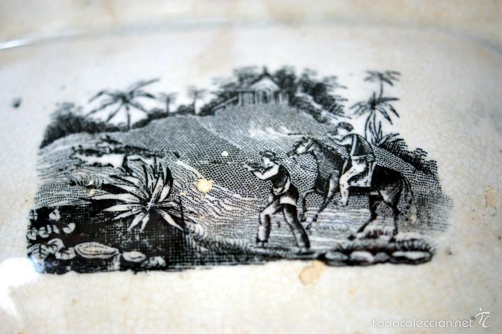 Antigüedades: CARTAGENA - ENSALADERA OCHAVADA DE LA SERIE CINEGETICA - S. XIX - Foto 9 - 56894354