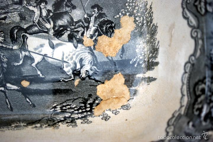 Antigüedades: CARTAGENA - ENSALADERA OCHAVADA DE LA SERIE CINEGETICA - S. XIX - Foto 12 - 56894354