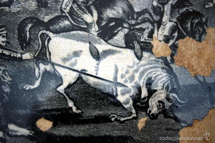 Antigüedades: CARTAGENA - ENSALADERA OCHAVADA DE LA SERIE CINEGETICA - S. XIX - Foto 14 - 56894354
