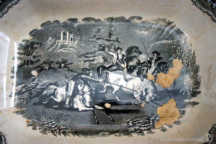 Antigüedades: CARTAGENA - ENSALADERA OCHAVADA DE LA SERIE CINEGETICA - S. XIX - Foto 15 - 56894354