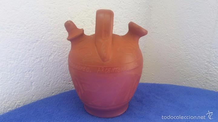 BOTIJO - CÁNTIR ST. DOMÉNEC / ARGENTONA 2002 (Antigüedades - Porcelanas y Cerámicas - Otras)
