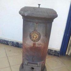 Antigüedades: OPORTUNIDAD UNICA, ESTUFA DE HIERRO FORJADO PARA CARBON DE FUNDICION REUS. Lote 56897169