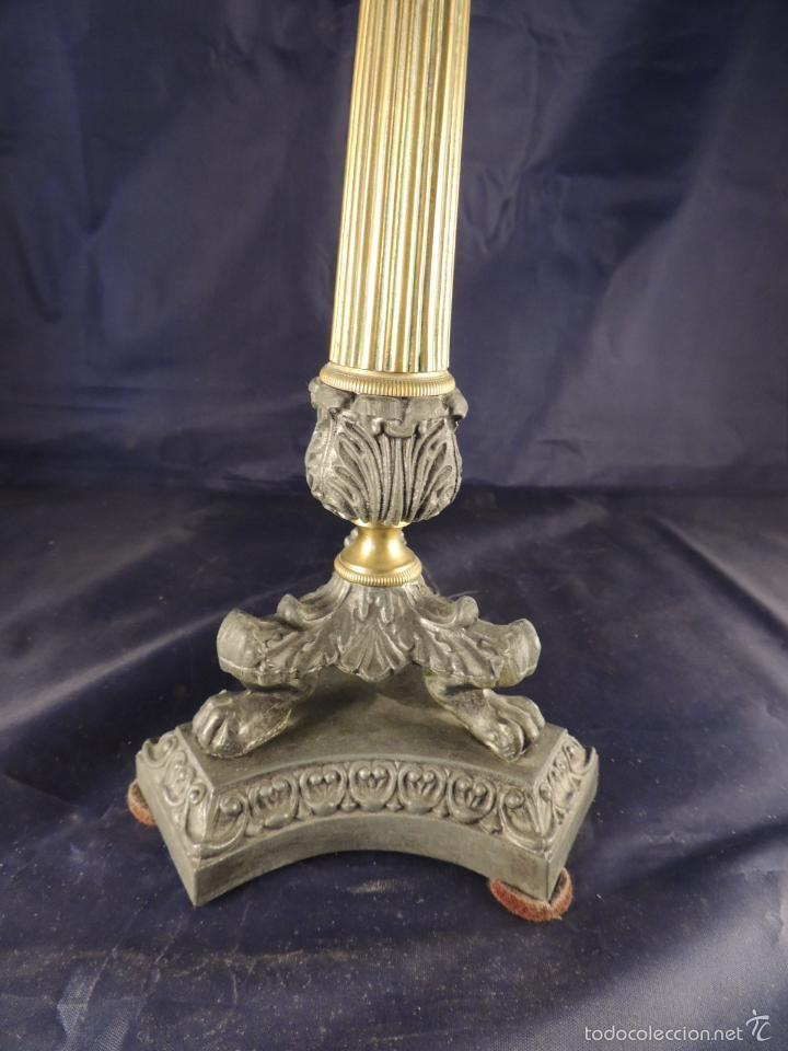 Antigüedades: CANDELERO CANDELABRO DE BRONCE CARLOS X - Foto 4 - 56904280