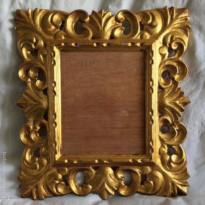 Antiguo marco tallado madera estucado y dorado comprar marcos antiguos de cuadros en - Marcos clasicos para cuadros ...