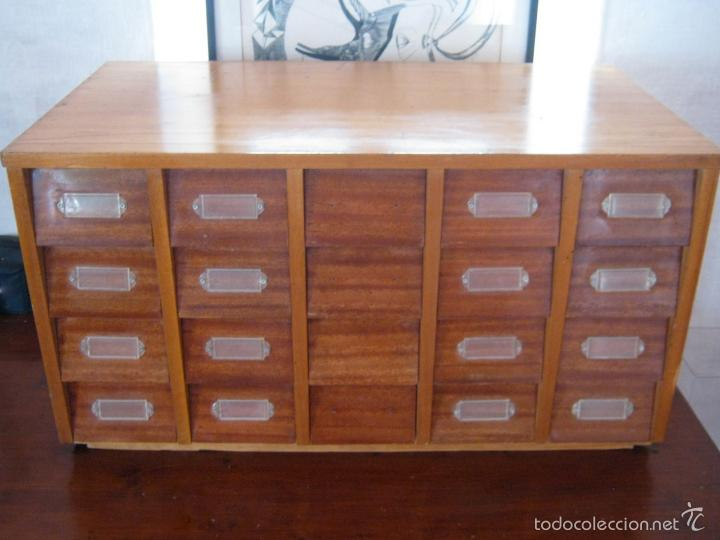 Especatcular mueble cajonera archivador 20 cajo comprar for Mueble fichero