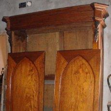 Antigüedades: MAGNIFICO ARMARIO. S.XIX. CAOBA RUBIA. INTERIOR DE CEDRO. LUNAS INTERIORES.. Lote 56914632