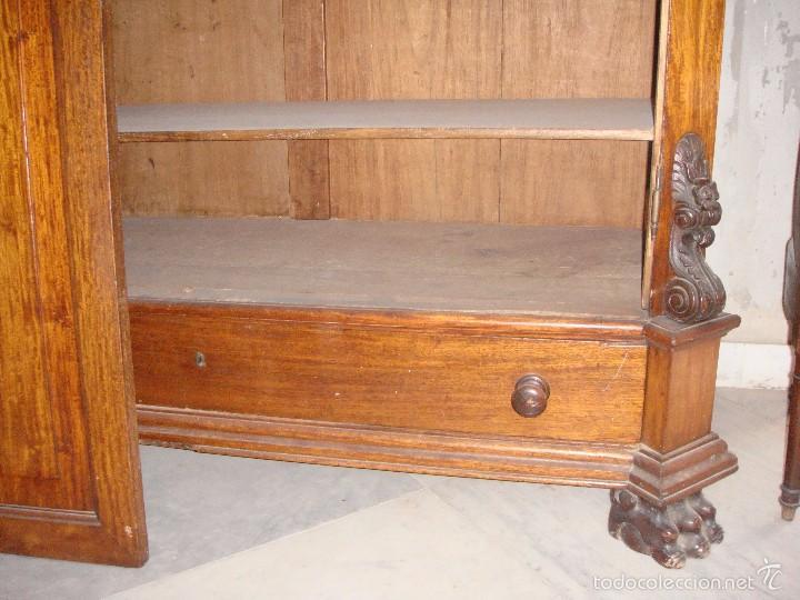 Antigüedades: Magnifico Armario. S.XIX. Caoba rubia. Interior de Cedro. Lunas interiores. - Foto 4 - 56914632