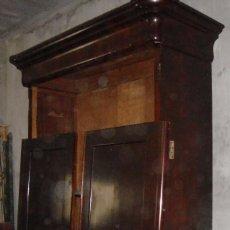 Antigüedades: PRECIOSO ARMARIO. S.XIX. CAOBA MACIZA. INTERIOR DE CEDRO.. Lote 56914803