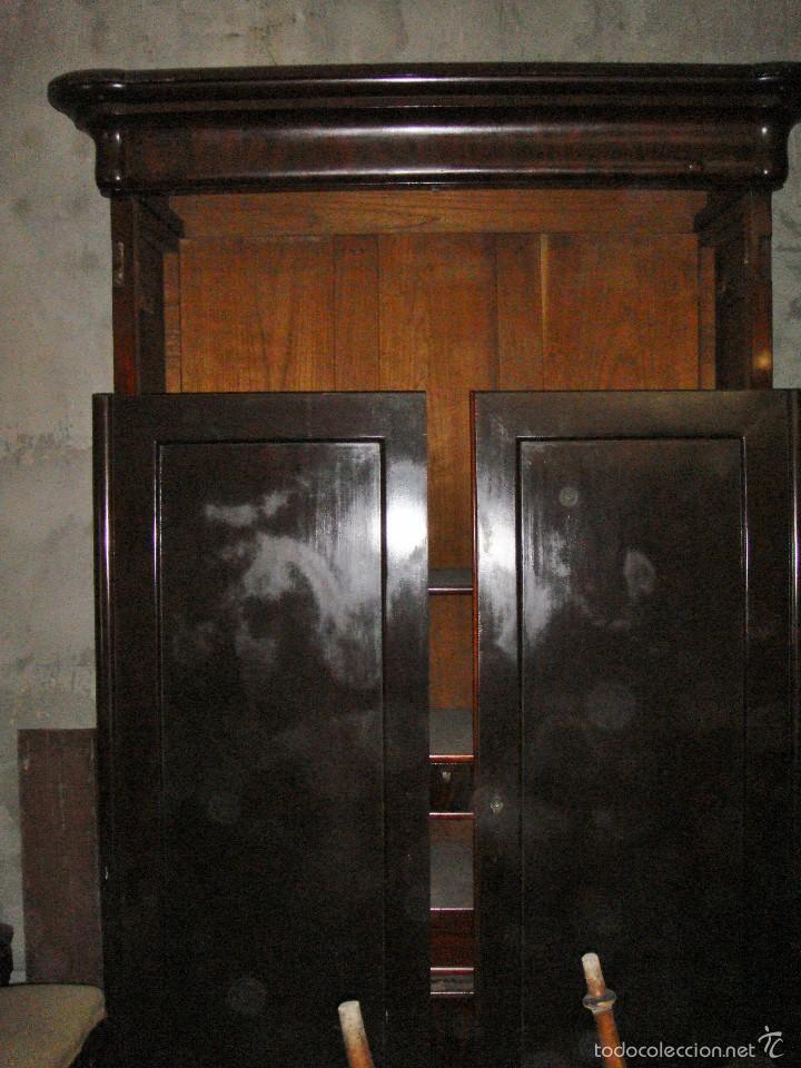 Antigüedades: Precioso Armario. S.XIX. Caoba maciza. Interior de Cedro. - Foto 2 - 56914803