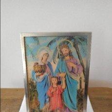 Antigüedades: CUADRO VIRGEN MARÍA, JOSÉ Y JESÚS. Lote 56925086