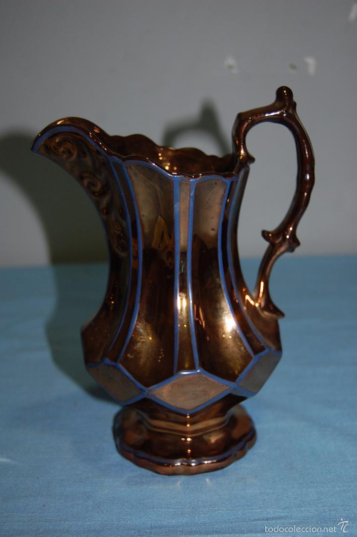 JARRA EN PORCELANA REFLEJOS DE BRISTO S.XIX (Antigüedades - Porcelanas y Cerámicas - Inglesa, Bristol y Otros)