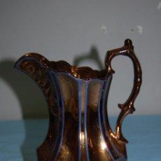 Antigüedades: JARRA EN PORCELANA REFLEJOS DE BRISTO S.XIX. Lote 56927070