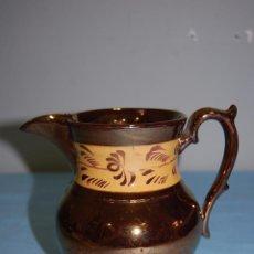 Antigüedades: JARRA EN PORCELANA REFLEJOS DE BRISTOL S.XIX. Lote 56927101