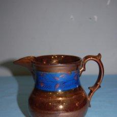 Antigüedades: JARRA EN PORCELANA REFLEJOS DE BRISTOL S.XIX. Lote 56927270