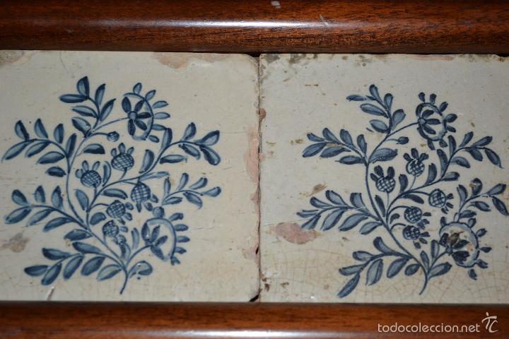 Antigüedades: MAGNIFICA PAREJA DE AZULEJOS ENMARCADOS EN CERAMICA DE TRIANA,(SEVILLA),S. XVIII-XIX - Foto 4 - 56927354