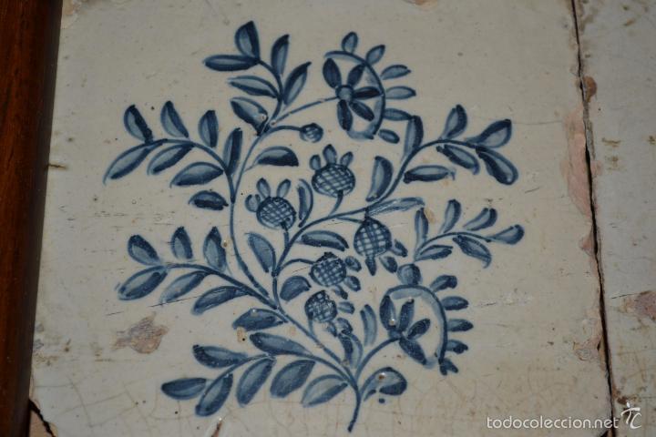 Antigüedades: MAGNIFICA PAREJA DE AZULEJOS ENMARCADOS EN CERAMICA DE TRIANA,(SEVILLA),S. XVIII-XIX - Foto 5 - 56927354