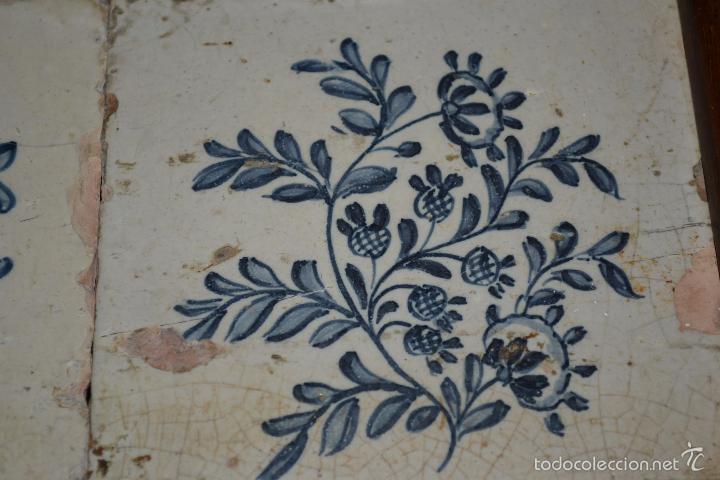 Antigüedades: MAGNIFICA PAREJA DE AZULEJOS ENMARCADOS EN CERAMICA DE TRIANA,(SEVILLA),S. XVIII-XIX - Foto 6 - 56927354