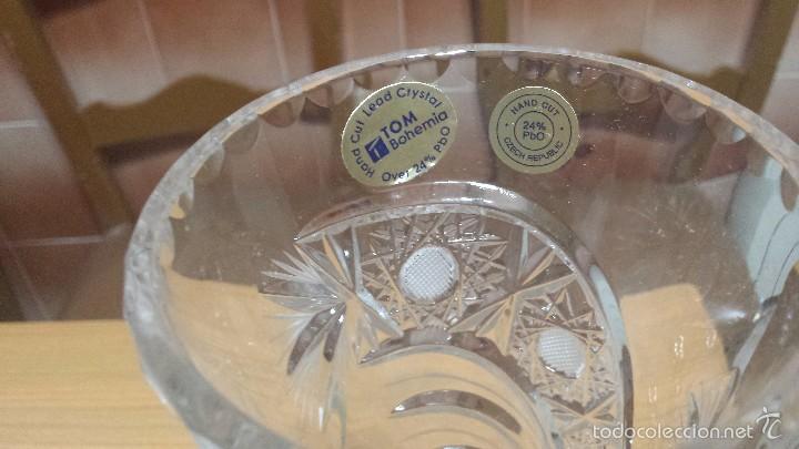 Antigüedades: precioso jarron o florero todo labrado con pie de plata - Foto 2 - 56927481