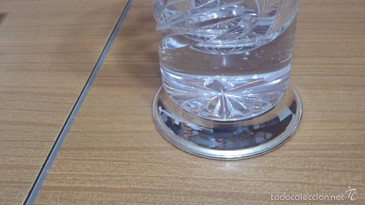 Antigüedades: precioso jarron o florero todo labrado con pie de plata - Foto 4 - 56927481