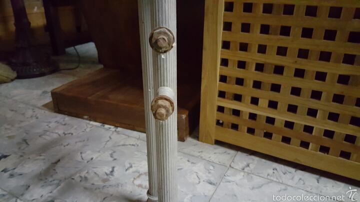 Antigüedades: Antigua cama de metal de 90cm - Foto 4 - 56929029