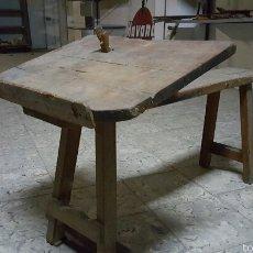 Antigüedades: ANTIGUO BANCO DE ALPARGATERO, ORIGINAL, SIN RESTAURAR.. Lote 56929434