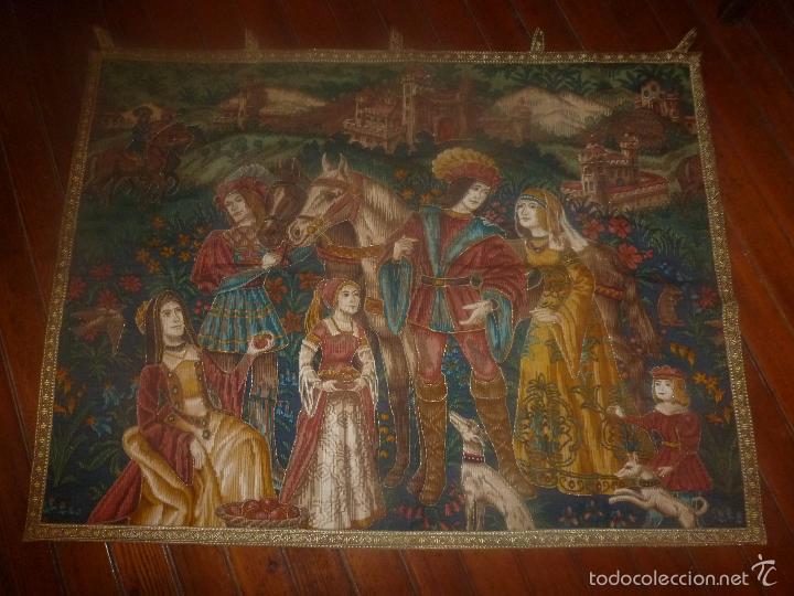 TAPIZ MEDIEVAL (Antigüedades - Hogar y Decoración - Tapices Antiguos)