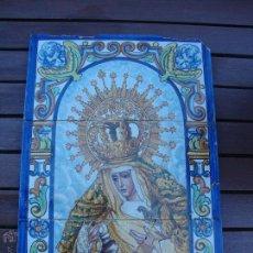 Antigüedades: RETABLO CERAMICO AZULEJOS (ESPERANZA DE TRIANA). Lote 87229815