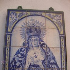 Antigüedades - Retablo ceramico azulejos (Esperanza de Triana) - 44167257