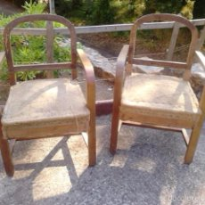 Pareja de sillones antiguos de roble