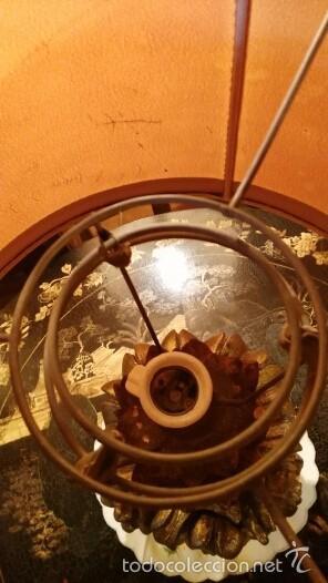 Antigüedades: PAREJA DE LÁMPARAS DE MADERA, TALLADAS - Foto 3 - 56942085