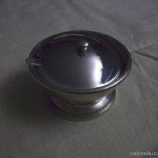 Antigüedades: RECIPIENTE METAL PLATEADO. Lote 56942158