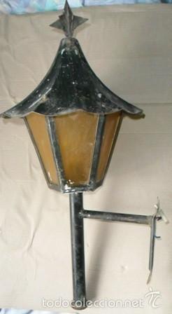 Dos antiguos faroles para exterior farol de hi comprar for Faroles para iluminacion exterior