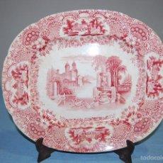 Antigüedades: ANTIGUA BANDEJA EN PORCELANA DE LA CASA PICKMAN CARTUJA SEVILLA CON SELLO ESTAMPADO DE 1892 A 1899. Lote 56943580