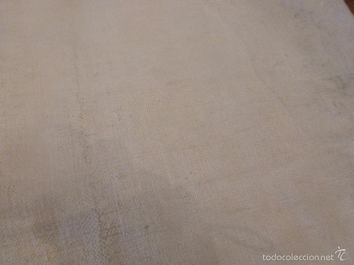 Antigüedades: sabana de lino grueso antigua - Foto 4 - 56956939